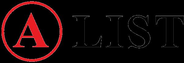 A List Logo long